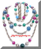 Kramer vintage beads necklace earrings set