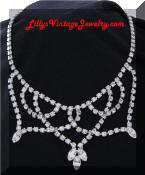 Kramer rhinestones festoon necklace