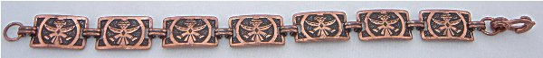 Vintage Copper Zuni Knife Wing Bracelet