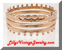 Vintage MONET Golden Crown Hinged Bracelet