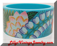 Plastic summer bangle bracelet
