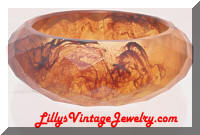 plastic amber faceted bangle bracelet