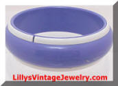 purple white bangle bracelet