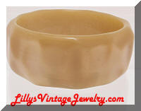 Vintage Lucite Golden Bangle Bracelet