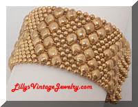 Vintage Golden Metal Beads Mesh Bracelet
