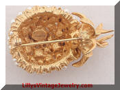 Alice Caviness Pineapple Fruit Brooch