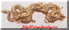 ALVA Museum Replica Golden Chinese Dragon Brooch
