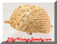 Vintage CADORO Large Golden Acorn Brooch