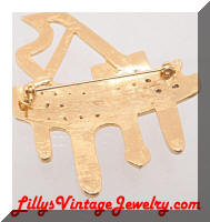 Contemporary Golden Grand Piano Large Brooch