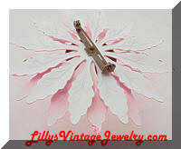 Vintage Flower Power Bright Pink Large Flower Brooch