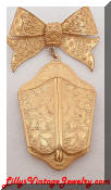 Miriam Haskell golden Locket Brooch