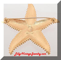 Vintage MONET Golden Starfish Brooch