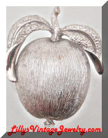 Vintage Sarah COVENTRY Silver Adam's Delight Apple Brooch