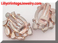Vintage ALICE CAVINESS Multi Rhinestones Chunky Earrings