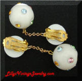 Austria plastic rhinestones drop ball earrings