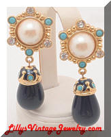 "Jose BARRERA for AVON ""Roman Holiday"" Drop Earrings"