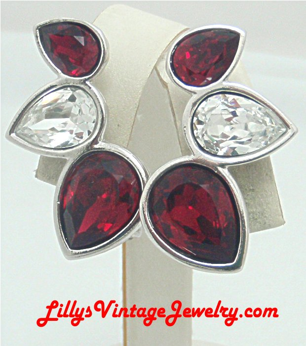 YVES SAINT LAURENT Gorgeous Rhinestones Earrings :  costume jewelry fashion jewelry ysl yves saint laurent