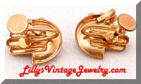 Vintage Retro Modern Rhinestones Golden Earrings