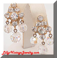 DeLizza & Elster JULIANA Rhinestones Dangle Crystals Earrings