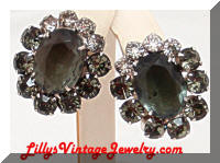 Juliana D&E black Diamond Rhinestones earrings