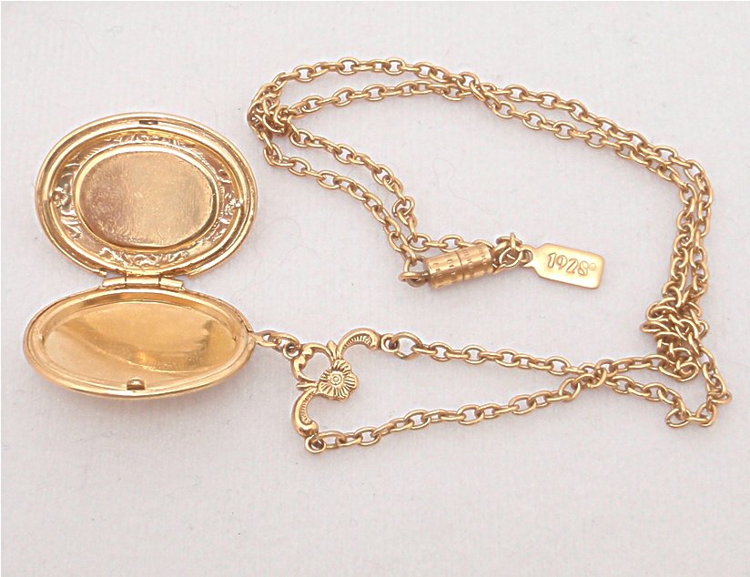 Lillys vintage jewelry signed necklaces vintage 1928 cameo golden locket necklace vintage 1928 cameo golden locket necklace aloadofball Choice Image