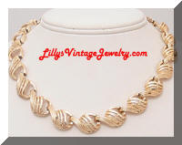 Vintage CORO Golden Link Necklace
