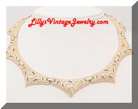 Vintage CORO Textured Golden Collar Necklace