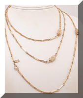 DIRECTION ONE Golden Bead Link LONG Necklace