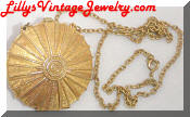 Estee Lauder perfume locket necklace