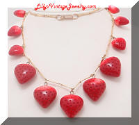 HOBE Long Strawberries Dangling Necklace