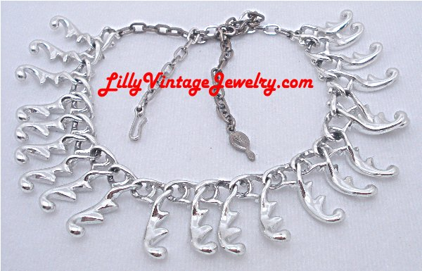 Vintage costume signed necklaces r s sarah coventry fancy free silver tone vintage necklace aloadofball Images