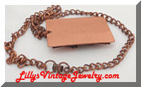 Vintage Copper Sea Life Pendant Necklace