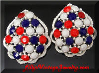 Weiss Patriotic Earrings