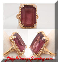 Vintage Sarah COVENTRY Purple Twilight Cocktail Ring