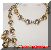 Kramer golden inserts necklace bracelet earrings set