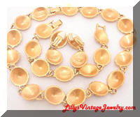 LIZ CLAIBORNE Golden Rich Colors Necklace Bracelet Earrings Set