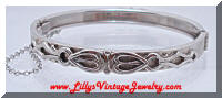 Whiting & Davis Silver Applied Hinged Bracelet