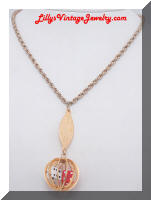 WHITING and DAVIS Las Vegas Gambling Pendant Necklace
