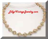Vintage WHITING and DAVIS Golden Beads Necklace